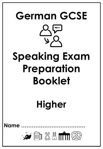 GCSE Speaking exam preparation booklets - Higher