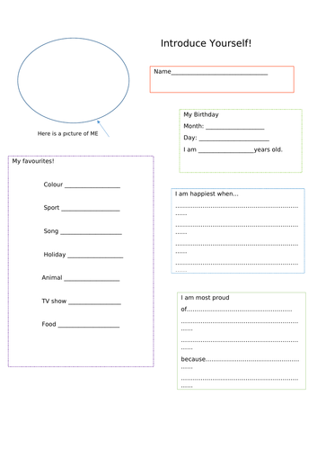 Introduction worksheet