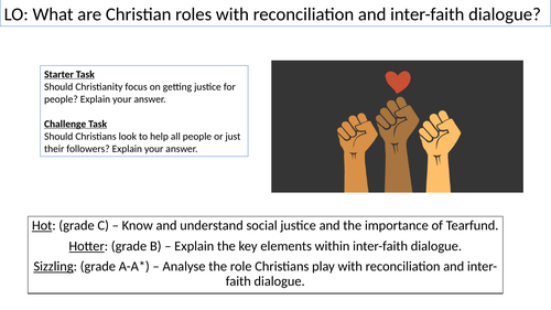 WJEC GCSE RE - Christian Reconciliation and Inter-Faith Dialogue - Unit One Christian Practices