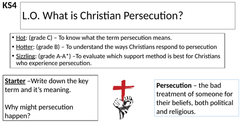WJEC GCSE RE - Christian Persecution - Unit One Christian Practices