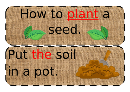 Simple planting instructions phase 2/3