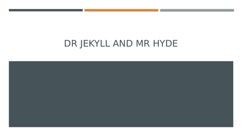Dr Jekyll and Mr Hyde: Chapter Seven