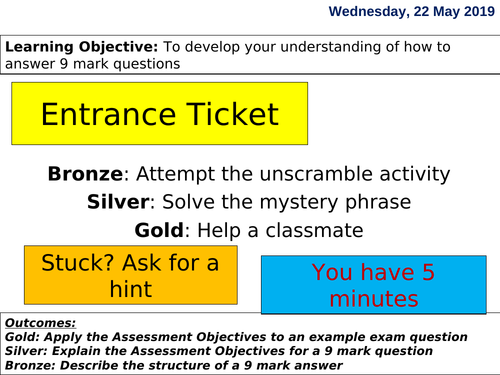 Edexcel GCSE Psychology-How to answer a 9 mark question
