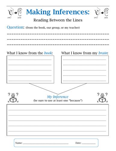 Making Inferences - Worksheet