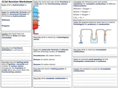 Edexcel CC16 Revision Worksheet