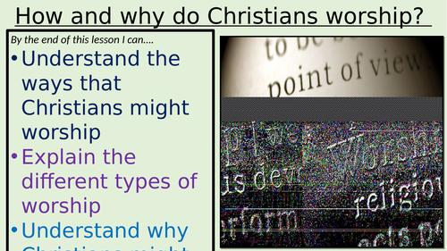 AQA GCSE How / Why do Christians worship