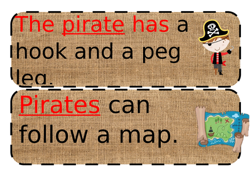pirates simple sentences great for EYFS