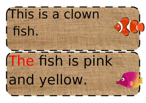 Underwater themed simple sentences EYFS