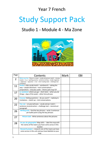 Studio 1 Module 4 Ma zone Study support booklet