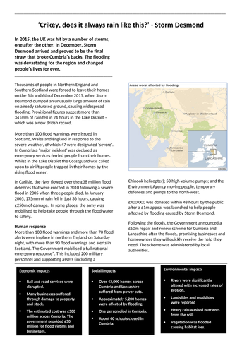 Storm Desmond flooding case study