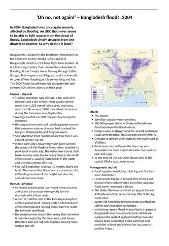 Bangladesh floods 2004 case study