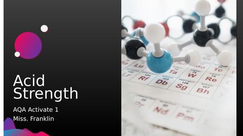 Acid Strength - AQA Activate 1 KS3