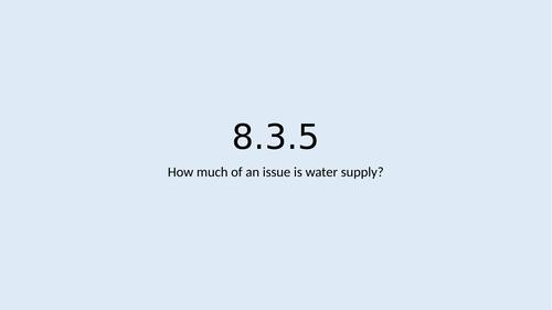 KS3 Rivers L5: Water shortage