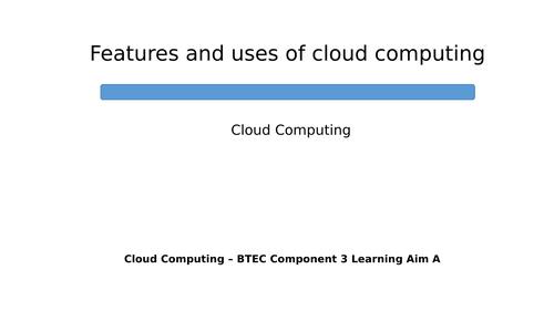 BTEC DIT Component 3 - Cloud Computing