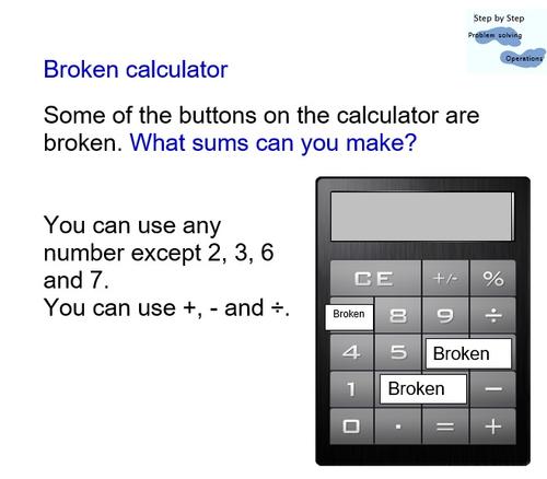 Number investigation - Broken Calculator