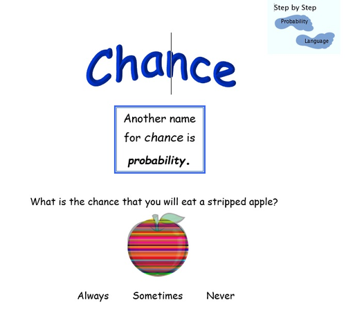 Probability step 1 – Chance events
