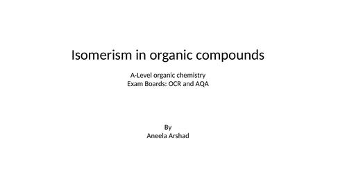 Isomerism in organic chemistry