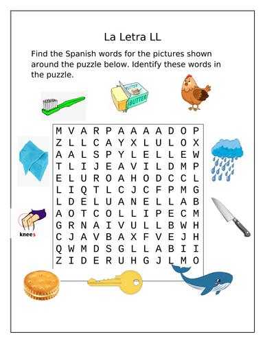 The Alphabet - La Letra LL ( Letter LL)