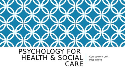Health & Social Care Cambridge Technical Psychology Unit 22 Bundle