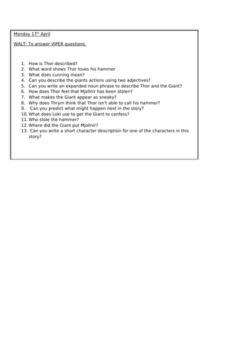 Past tense writing planning and worksheets