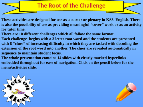 Extend Your Vocabulary , Root of the Problem....