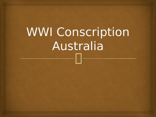 WWI Conscription in Australia