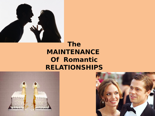 Maintenance Theory of Relationships (Social Exchange Theory AND Equity Theory)