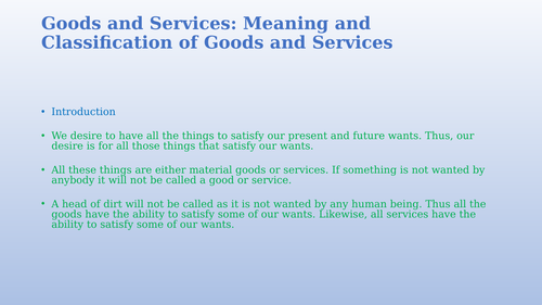 Goods and Services: meaning, types of goods and services and other  concepts