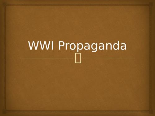 WWI Propaganda Posters Explained