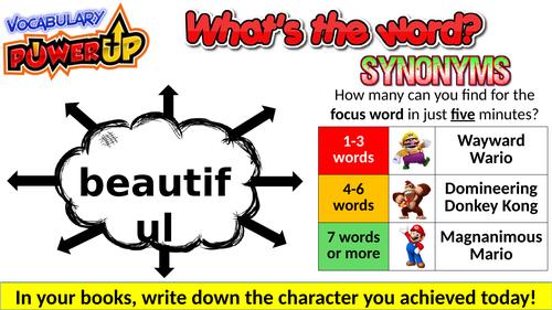 Vocabulary 'Power Up' Starter Activities