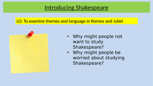 Romeo and Juliet full SOW