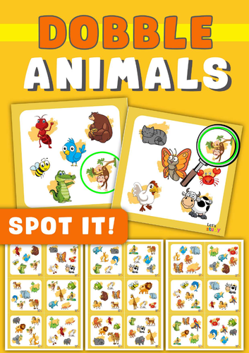 Spot it! Dobble ! Spy! Seek it!   ANIMALS Game
