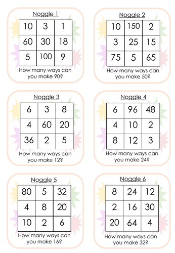 Noggle Challenges - Fun Maths Game