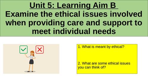 BTEC H&SC Level 3 Unit 5: Learning Aim B