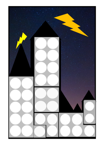 Numicon city outline match - superheroes