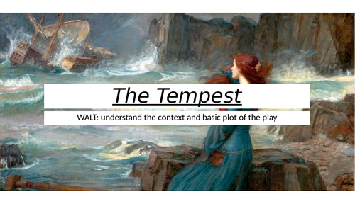 The Tempest Introduction Lesson