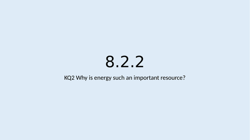 KS3 Resources L2: Energy supply
