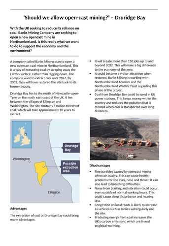 Open cast coal mine case study: Druridge Bay