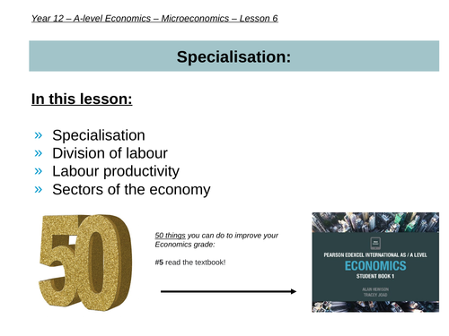 Specialisation & Division of labour (AS-level Microeconomics)