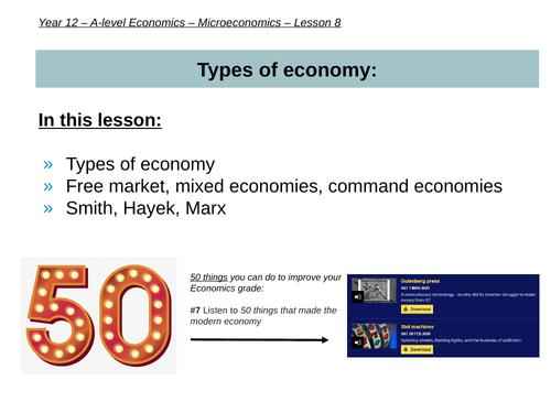 Types of economy (AS-level Microeconomics)