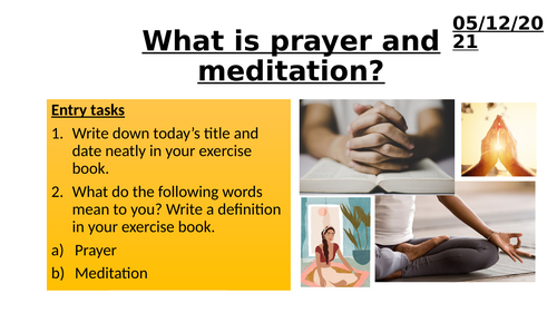 Introduction to Prayer and Meditation