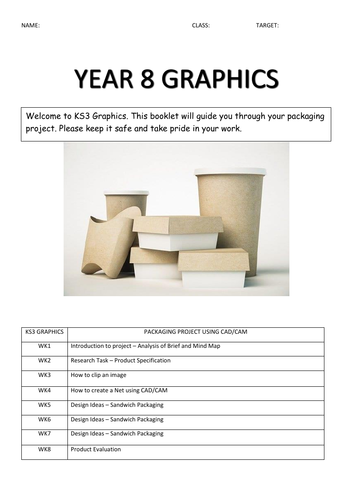 Year 8 Graphic Design Booklet - Packaging Project