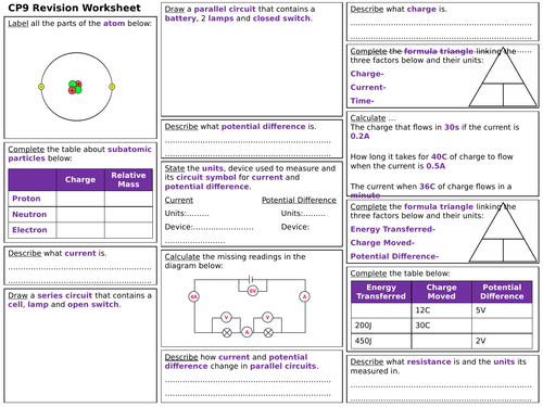 Edexcel CP9 Revision Worksheet
