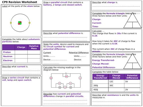 Edexcel CP9 Revision Worksheet