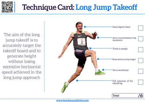 Technique Card - Long Jump Takeoff