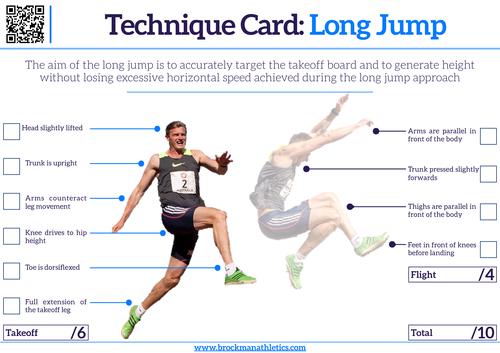 Technique Card - Long Jump