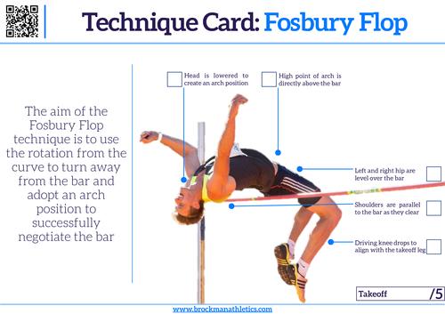 Technical Card - Fosbury Flop Technique