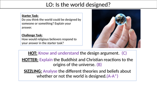 WJEC GCSE RE - Was the world designed? - Unit One Issues of Life and Death