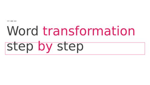 Word Transformation B2 FCE Cambridge