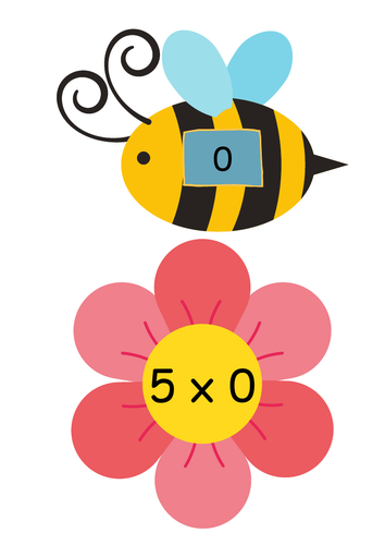 Multiplication bee matching game